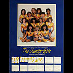 The Warrior Girls - Golden State Warriors Calendar and Basketball 1987 Schedule Poster
