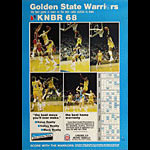 KNBR 68 Radio - Golden State Warriors 1977-78 Basketball Schedule Poster