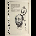 Nate Thurmond Golden State Warriors Basketball Poster