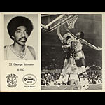Olympia Beer - George Johnson Golden State Warriors Basketball Poster