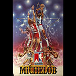 Kareem Abdul Jabaar Michelob Beer - NBA All Star Voting Basketball Poster