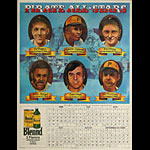 Pittsburgh Pirates All-Stars Baseball 1974 Schedule Calendar Poster