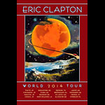 David Singer Eric Clapton 2014 World Tour Poster