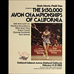 Martina Navratilova 1980 Avon Tennis Championships of California at Oakland Poster