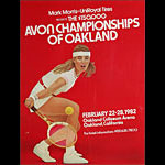 Andrea Jaeger 1982 Avon Tennis Championships of California at Oakland Poster