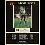 San Jose Golden Bay Earthquakes NASL Indoor Soccer Schedule Poster