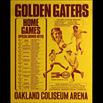 Golden Gaters 1974 Tennis Schedule Poster