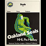 Oakland Seals (California Golden Seals) NHL Pro Hockey 1969 Season Generic Game Poster
