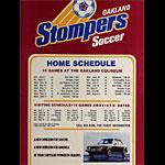Oakland Stompers 1978 NASL Soccer Schedule Poster