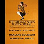 Virginia Slims Tennis Circuit $150000 Championship at Oakland Coliseum Poster