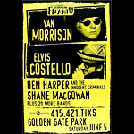 Elvis Costello, Van Morrison 1999 Fleadh Poster