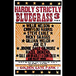 Hatch Show Print Hardly Strictly Bluegrass 3 Poster