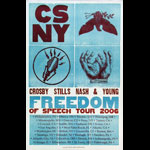 Hatch Show Print Crosby Stills Nash and Young Freedom of Speech Tour 2006 Poster