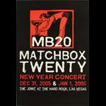 Matchbox Twenty (MB20) 2005/2006 New Year Concert Poster