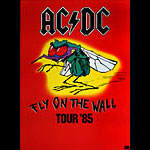 AC/DC Original 1985 Fly On The Wall Tour Poster