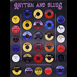 Rhythm and Blues Record Label Poster