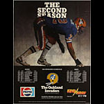 Oakland Invaders Second Season 1984 USFL Football Schedule Poster