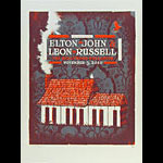 Andrew Vastaugh Elton John and Leon Russell Poster