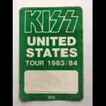 Rare Original Kiss Lick It Up USA Tour 1983 Fresno CA 1984 Guest Pass Backstage Pass