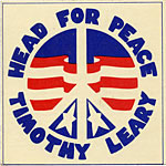 Head for Peace - Timothy Leary for Governor of California 1969 Campaign Sticker