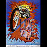 Stanley Mouse Harley-Davidson Love Ride 10 1993 Poster - signed
