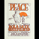 Stanley Mouse Peace - Bola Sete and Grateful Dead Handbill