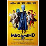 Megamind 3D Advance Promotional  Mini Movie Poster