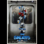 The Smurfs 3D Advance Promotional  Mini Movie Poster