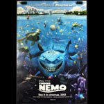 Finding Nemo Advance 2 Sided One Sheet Signed w/Sketch Andrew Stanton Lee Unkrich COA Movie Poster