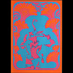 Victor Moscoso NR # 9-3 Wildflower Neon Rose NR9 Poster