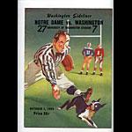 1949 Notre Dame vs Washington College Football Program