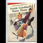 1950 Notre Dame vs North Carolina College Football Program