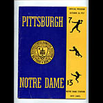 1957 Notre Dame vs Pittsburgh College Football Program