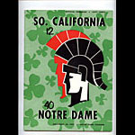 1957 Notre Dame vs USC College Football Program