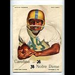 1958 Notre Dame vs Carolina College Football Program