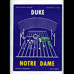 1958 Notre Dame vs Duke College Football Program