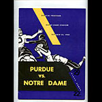 1958 Notre Dame vs Purdue College Football Program