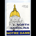 1959 Notre Dame vs North Carolina College Football Program