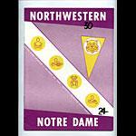1959 Notre Dame vs Northwestern College Football Program