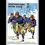 1961 Notre Dame vs Northwestern College Football Program