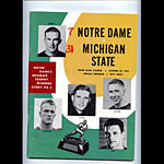 1962 Notre Dame vs Michigan State College Football Program