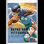 1962 Notre Dame vs Pittsburgh College Football Program