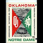 1966 Notre Dame vs Oklahoma College Football Program