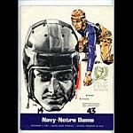 1967 Notre Dame vs Navy College Football Program