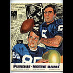 1968 Notre Dame vs Purdue College Football Program