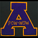 A Pow-Wow Logo Purple Gold Patch