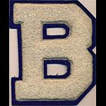 B Logo White Blue Patch