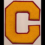 C Logo Gold Red Patch