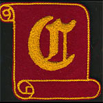C Scroll Logo Patch