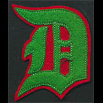 D Logo Script Red Green Patch